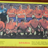 foto. FOTOGRAFIE ECHIPA DE FOTBAL SPANIA LA CAMPIONATUL MONDIAL ITALIA 90. 1990