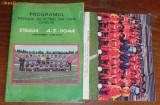 PROGRAM FOTBAL STEAUA - A  S ROMA 1984 SI FOTOGRAFIE CU A S ROMA