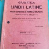 TH.SIMENSCHY-GRAMATICA LIMBII LATINE CU NOTIUNI ELEMENTARE DE STILISTICA SI VERSIFICATIE,CHISINAU 1935