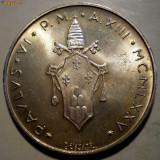 E.083 VATICAN PAPA PAUL VI 500 LIRE 1975 AUNC ARGINT 11,04g, Europa