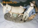 BIBELOU DE PORTELAN -VECHI-,,TARANUL CU CARUTA''