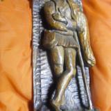 TABLOU VECHI, CIOBANASUL, SCULPTURA IN LEMN CERAT