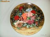 SUPERBA FARFURIE DECORATIVA COALPORT ~~ PEACH ROSES ~~, Farfurii