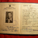 Carnet de Lucrator -1947 - Pasaport/Document