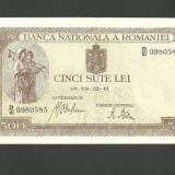 BANCNOTA 500 LEI - 22 iulie 1941, Filigran BNR ORIZONTAL ( serie 0980585) AUNC - Bancnota romaneasca