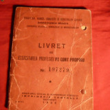 Livret de Liber-Profesionist 1945 - Pasaport/Document