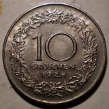 D.065 AUSTRIA 10 GROSCHEN 1928 XF, Europa, Cupru-Nichel