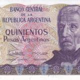 Bancnota Argentina 500 Pesos Argentinos (1984) - P316 UNC