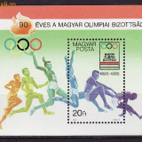Ungaria-90 ani Societatea maghiara de Olimpiada,colita,E134