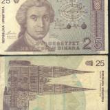 Croatia 25 dinari 1991 - circulata