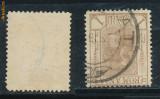RFL 1900 ROMANIA eroare Spic de Grau timbru de 1 bani cu filigran PR ranversat, stampilat
