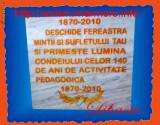 Placa comemorativa 40cm x 40cm cu litere gravate