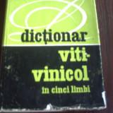 Dictionar Viti-Vinicol (In Cinci Limbi) - Grigore Corodea si Maria Vlaiculescu - 1975