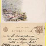 Baile Herculane - litografie -clasica, rara,1897