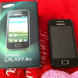 Samsung Galaxy Ace GT S5830 - Telefon mobil Samsung Galaxy Ace, Negru, Orange
