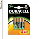 Acumulatori Duracell AAA(R3) - 800mAh - set 4 bucati - Baterie Aparat foto Duracell, Tip AAA (R3)