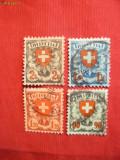 Serie-Uzuala -Stema Elvetia-val.mari -4 val.stamp.