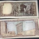 Une livre Liban, Bancnote, numismatica