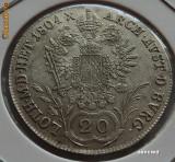 20 kreuzer 1804 B Austria, argint