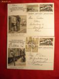 Set-2 Carti Postale Ilustrate - 100 Ani Cai Ferate Elvetia -1947