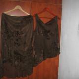 COMPLEU DAMA DEOSEBIT VOAL CU IMPRIMEU CATFEA MARIMEA 44 DOAR AZI 10% REDUCERE - Costum dama Armani Exchange, Costum cu fusta, Coffee