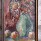 C. Porumb - Natura moarta cu vaza si fructe - Pictor roman