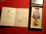 Medalie In Serviciul Patriei Socialiste cl.Ia RPR,cu brevet