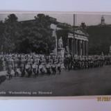 FOTOGRAFIE(CARTE POSTALA) CU DEFILAREA ARMATEI GERMANE DIN ANII 30 - Fotografie veche