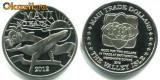 Bnk mnd Hawaii Maui 2 dolari 2012 necirculata , fauna marina, Australia si Oceania