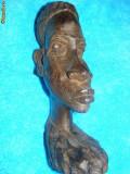 STATUETA MASIVA ABANOS UNICAT ,ARTA ORIGINAL-I,ARTA AFRICANA VECHE