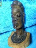 STATUETA MASIVA ABANOS UNICAT ,ARTA ORIGINAL-IIII,ARTA AFRICANA