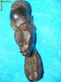STATUETA MASIVA ABANOS UNICAT ,ARTA ORIGINAL-II,ARTA AFRICANA VECHE