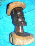 STATUETA MASIVA ABANOS UNICAT ,ARTA ORIGINAL-III,ARTA AFRICANA