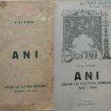 Siruni, Anuar de cultura armeana, 1943, autograf catre Prof. Munteanu Ramnic - Carte Editie princeps