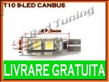 BEC LED LEDURI TYPER - T10 W5W - 9 SMD - POZITIE, PLAFONIERA, NUMAR - CANBUS FARA EROARE DE BEC ARS - CULOARE ALB
