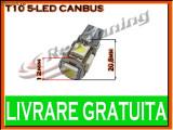 BEC LED LEDURI TYPER - T10 W5W - 5 SMD - POZITIE, PLAFONIERA, NUMAR - CANBUS FARA EROARE DE BEC ARS - CULOARE ALB