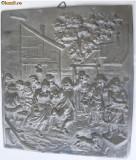Tablou din zinc cu scena de petrecere