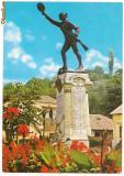 Carte postala-SLATINA Statuia Ecaterina Teodoroiu, Circulata, Printata