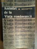 Amintiri de la viata romaneasca-M.Sevastos, 1966