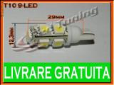 BEC LED LEDURI TYPER - T10 W5W - 9SMD - POZITIE, PLAFONIERA, NUMAR - CULOARE ALB
