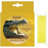 Fir Textil Aqua Crocodile fluo 100 metri ideal pentru spinning - Fir Pescuit