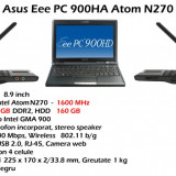 Laptop Asus Eee PC 900HA Atom N270 1.6GHz Laptop Asus Eee PC 900HA Atom N270, Intel Atom, Diagonala ecran: 9, 2 GB, 160 GB