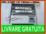 DRL (LUMINI DE ZI) TYPER 5-LED 1W - 160mm x 25mm