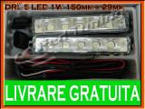 DRL (LUMINI DE ZI) TYPER 5-LED 1W - 150mm x 29mm