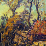 Tablou peisaj PERIFERIE - I.Alexa ( panza, ulei, cutit ), Peisaje, Impresionism