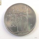ITALIA 100 LIRE 1976, 8 g., Stainless Steel, 27.8 mm **, Europa