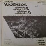 Disc vinil vinyl pick-up LUDWIG VAN BEETHOVEN DOUBLE 1812 Symphony no8 F major Symphony no9 D major rar vechi colectie