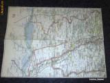 Harta Turing Clubul Roman - interbelica - nr 45 - Slatina - Caracal