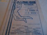 Program fotbal PETROLUL Ploiesti - FCM RESITA 05.03.1978