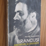 BRANCUSI  *  AMINTIRI SI EXEGEZE -- Petre Pandrea -  [ Meridiane 1967,  contine 261 pag. ,  ]
